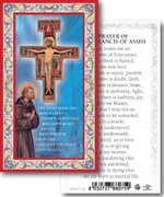 Laminated Holy Card: 700 SERIES: San Damiano Crucifix St Francis