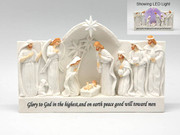 LED Nativity, Glory to God...13.5cm (NST1879)