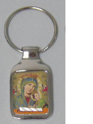 "Keyring: ""Protect Me"" Our Lady Perpetual Succour"