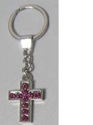 Keyring: Diamente Cross: PINK