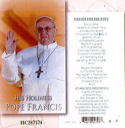 Laminated Holy Card: Pope Francis