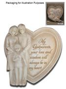 Heart Plaques: Godparents