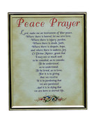 GOLD FRAME - PEACE PRAYER