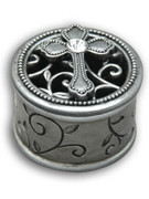 Filigree Jewellery Box with Cross (PL1523)