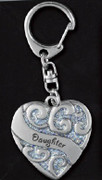 Heart Sparkle Keyring: Daughter (HS103)
