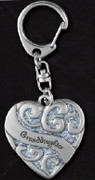 Heart Sparkle Keyring: Granddaughter (HS104)