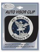 Glitter Visor Clip: St Michael