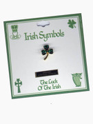 Austrian Crystal Pin: Irish Clover
