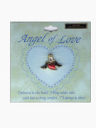 Austrian Crystal Pin: Angel of Love