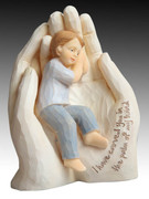 Resin Statue: Palm in Hand Boy (ST4914B)
