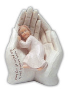 Resin Statue: Palm in Hand Girl (ST4914G)