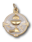 Communion Medal: Round Chalice Gilt (MECT18E)