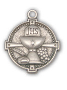 Communion Medal: Round Chalice Silver (MECT18S)