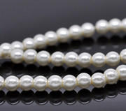 Rosary Making Beads: Acrylic 6mm White Pearl (immitation) x 500 (Approx.)