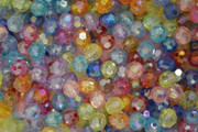 Rosary Making Beads: Acrylic: 6mm Multi Colour Faceted AB (600)
