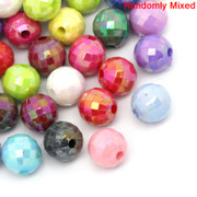 Rosary Making Beads: Acrylic: 7mm Multi Colour Faceted (250approx)(A031)