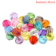 Rosary Making Beads: Acrylic: 6mm Faceted Multi Colour (500)(A034)