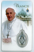 Laminated Holy Card and Medal: Pope Francis