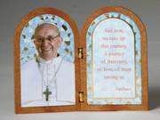 Bi-fold Plaque: Pope Francis (PL1111PF)