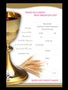 Communion Certificate: Golden Chalice