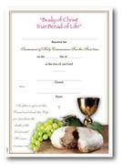 Communion Certificate: True Bread