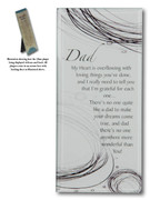 Message in Glass Plaque: Dad