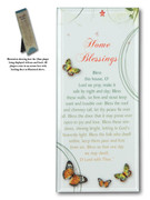Message in Glass Plaque: Home Blessing