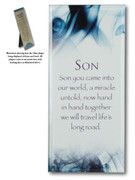Message in Glass Plaque: Son