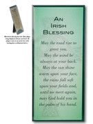 Message in Glass Plaque: Irish Blessing