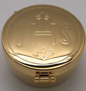 "Pyx, ""IHS"" Gold with Pouch"