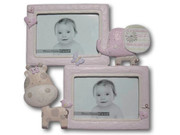 Baby Animal Photo Frame Pink