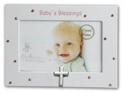 Baby Blessings Photo Frame Pink