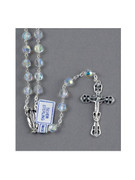 Quality Rosary: Sterling Silver Links with 7mm Swarovski Beads (RX1907)