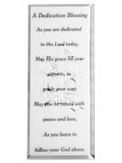 Message Mirror Plaque, Dedication