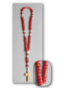Children's Rosary: Wood Bead on Cord Red (RO115R)
