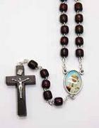 Wood Rosary: Saint John Paul II