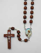 Natural Wood Rosary: Saint John Paul II (RX721PJ)