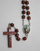 Natural Wood Rosary: Saint John XXIII (RX721JXXIII)