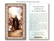 Laminated Holy Cards: 700 SERIES: St Francis Xavier