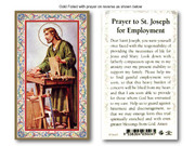 Laminated Holy Cards: 700 SERIES - St Joseph/ Employment Prayer