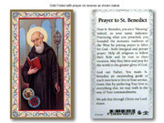 Laminated Holy Cards: 700 SERIES - St Benedict (LC734646)