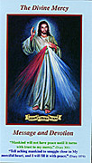 Leaflet(small): Divine Mercy Message & Devotion (blue)