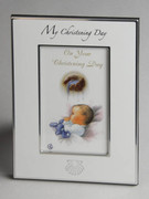 Christening Day Photo Frame with Shell Motif