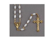 Rosary: Genuine Mother of Pearl Gold Links (RX200G)