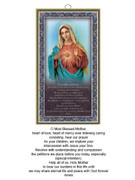 Wood Plaque: Immaculate Heart Mary (PL1802)