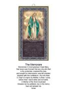 Wood Plaque: Miraculous The Memorare (PL1807)