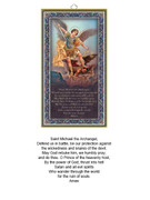 Wood Plaque: St Michael with Prayer (PL1819)