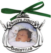 Christmas Ornament/frame, Baby's 1st Christmas (CO602)