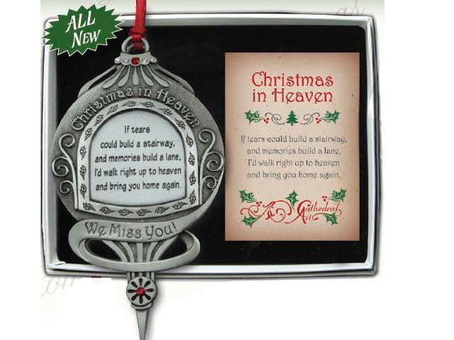 Christmas In Heaven Ornament.Christmas Ornament Christmas In Heaven Co746