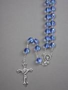 Glass Rosary: 10mm Bead Blue (AB) (RXIR10B)